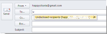 How to send email to undisclosed recipients in Outlook?