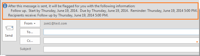 How to send an email message with reminder in Outlook?