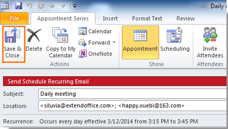 How to send a recurring email in outlook 2007