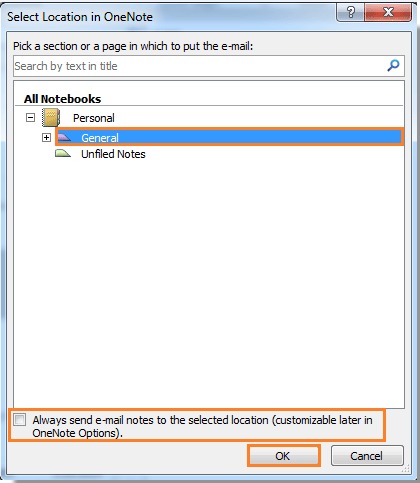How to send emails from Outlook to OneNote?