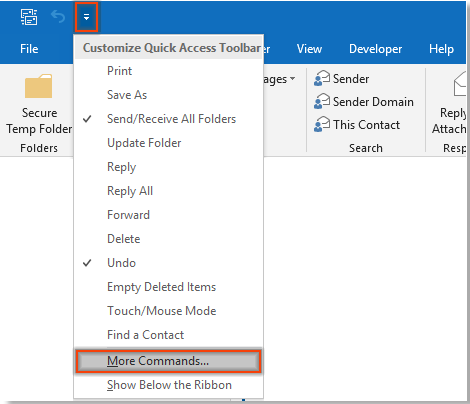 How to view sender's email address without opening the email
