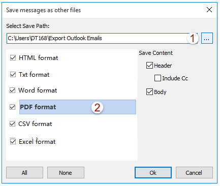 doc export bulk selected emails 02