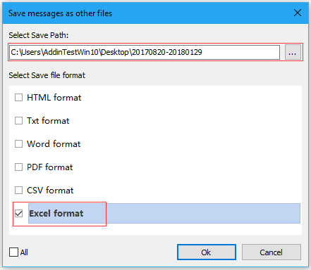 doc export emai in date range 6