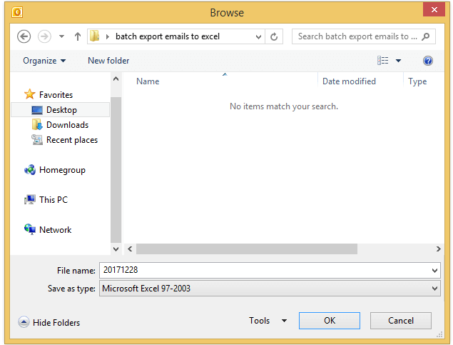 doc export email to excel file 6
