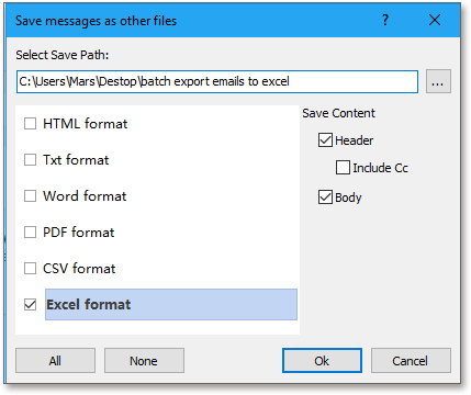 doc export email to excel file 10