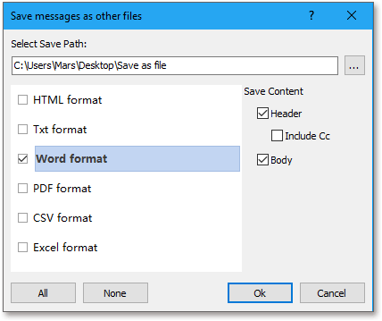 doc export email to word 6