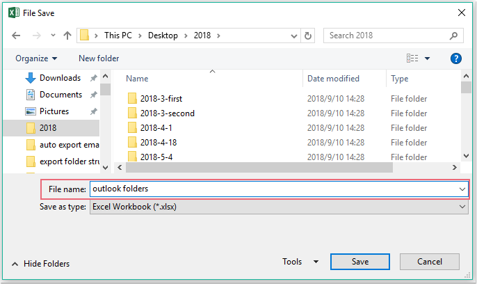 doc export folder structure to excel 3