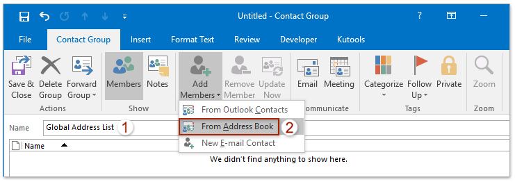 Manually Global Address Book Outlook 2010