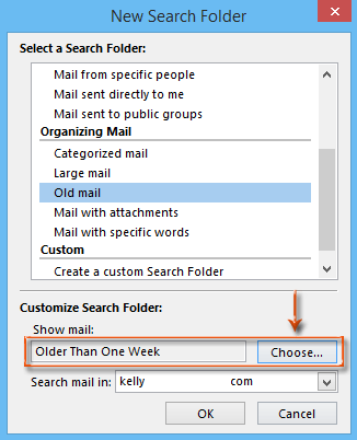 How to find out old email messages in Outlook?