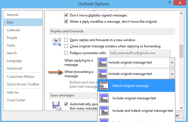 How to forward messages as attachments in Outlook?