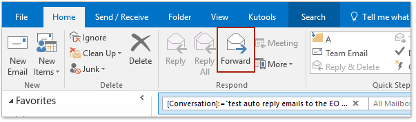 How to forward an entire conversation (email chains) in Outlook?