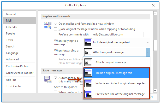 How to not forward emails as attachments in Outlook?