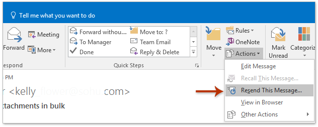 How to forward without header info in message body in Outlook?