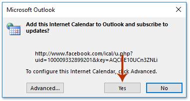 How to sync/import Facebook events/birthdays into Outlook