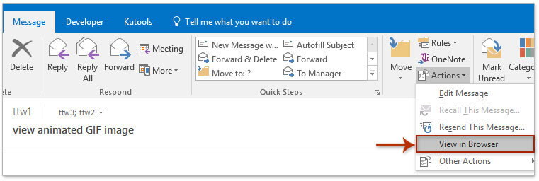 How to insert and view animated GIF images in Outlook email?