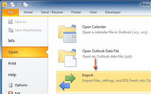 How to export a calendar from Outlook as a  pst file?