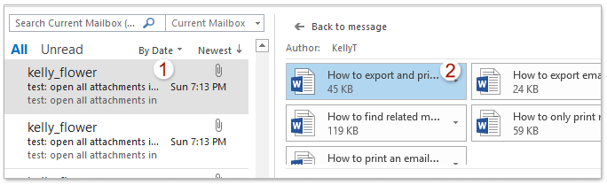 How to open all attachments in bulk in Outlook?