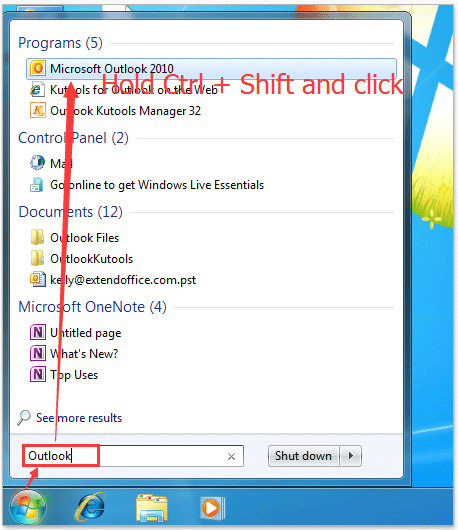 How to open Outlook as administrator?