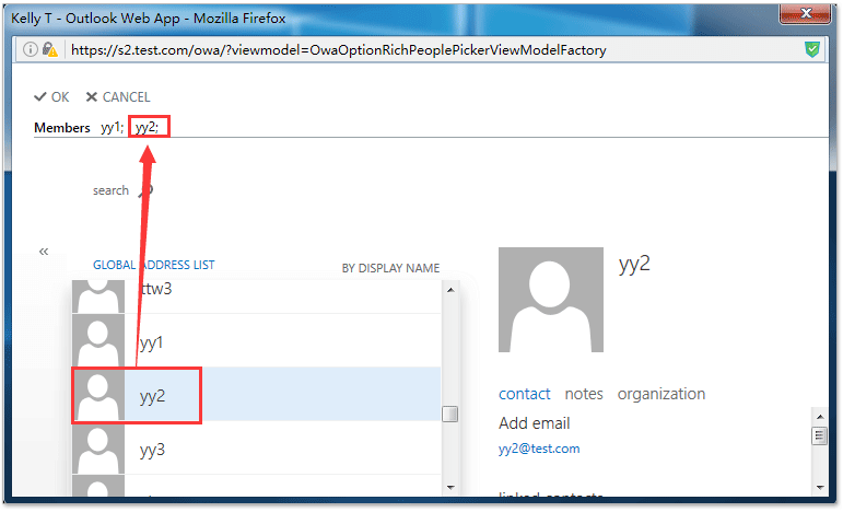 How to add contacts to distribution group in Outlook Web App (OWA)?