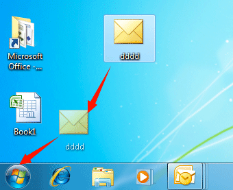 How to pin Outlook emails to taskbar or start menu of