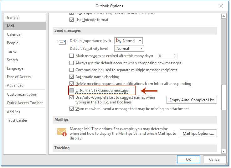 outlook keyboard shortcut to send email