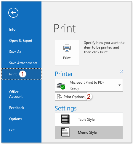 How To Print All Attachments In One Multiple Emails In Outlook