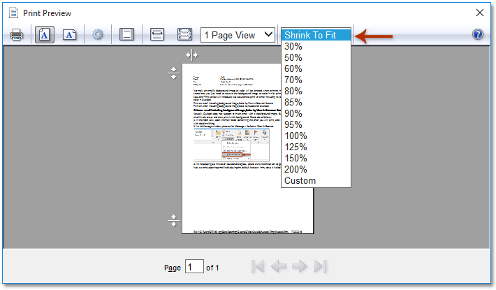fit outlook print shrink printing email pages down printer screenshot button please box