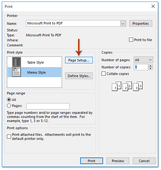 How to change the font size in ms outlook