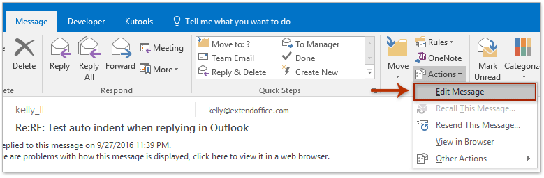 How to print an email with small/big font size in Outlook?