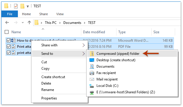 How to reduce attachments' size when sending emails in Outlook?