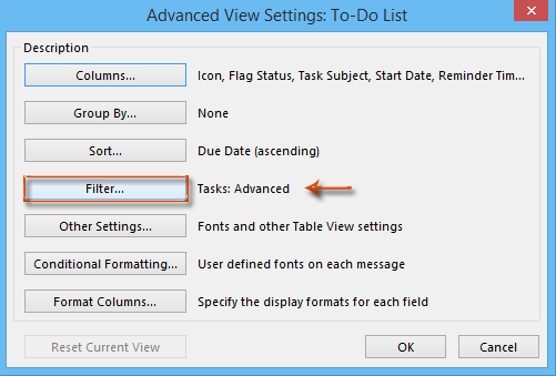 How to remove flagged emails from task list in Outlook?