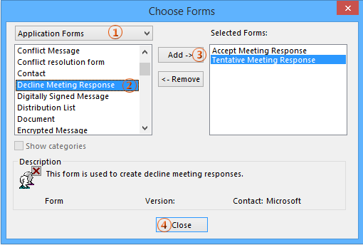 How to auto remove meeting responses/acceptances in Outlook?