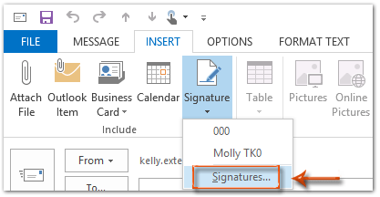 How to rename signatures in Outlook?