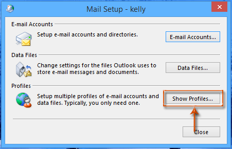 setting up profiles in outlook