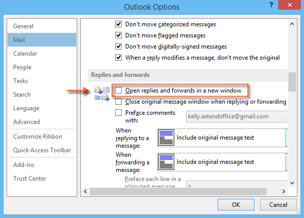 How to disable replying in Reading Pane in Outlook?