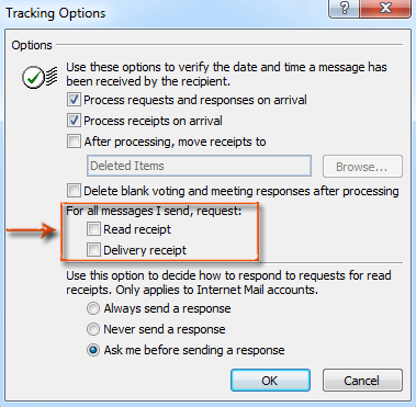 How to request delivery receipt and read receipt in Outlook?