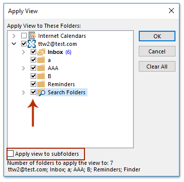 How to restore/reset folder view settings in Outlook?