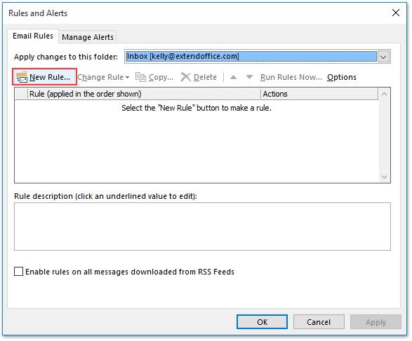 How to set rule if subject does not contain certain words in Outlook?