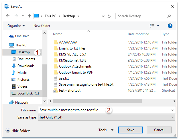doc save multiple emails to one txt file 2