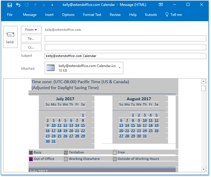 How to save/export Outlook calendar as Word document?