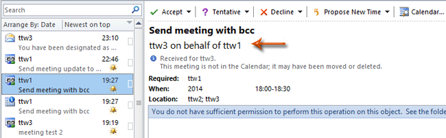 How to send meeting requests on behalf of other in Outlook?