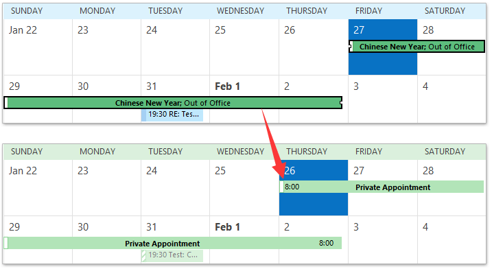 meetings do not show up in outlook calendar