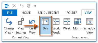 How to hide non-working hours in Calendars in Outlook?