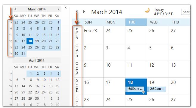 Calendario 2019 Week Number.How To Show The Week Numbers In Calendar In Outlook