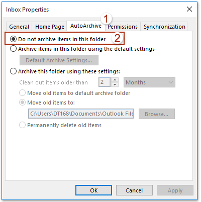 How to stop/prevent Outlook from auto-deleting emails?