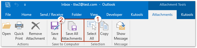How to unzip all zipped attachments in Outlook emails?