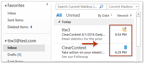How to view emails' last modified (deleted) dates in Outlook?