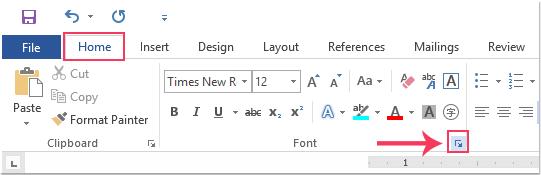 doc change default font 1
