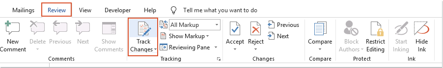doc copy track changes to outlook 1