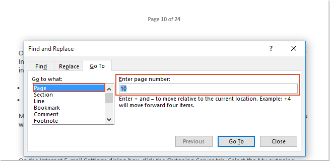 How to delete multiple specific pages in a Word document?